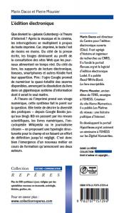 Marin Dacos, Pierre Mounier, L'édition électronique, La Découverte, Paris, 2010
