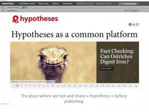 Hypothèses, une plateforme